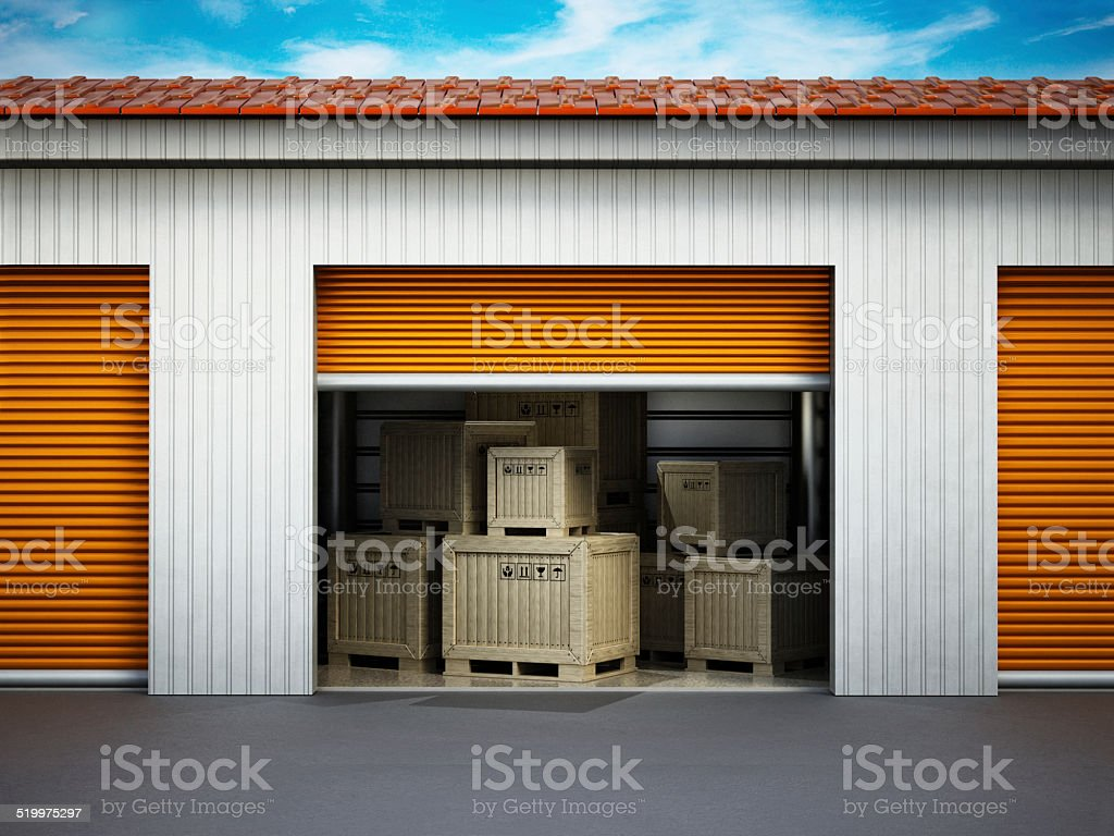 Personal storage unit stock photo