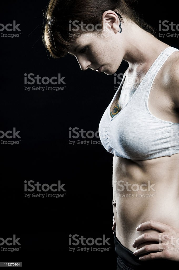 personal trainer abdominal royalty-free stock photo