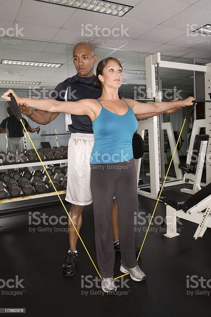 Personal Trainer Series stock photo