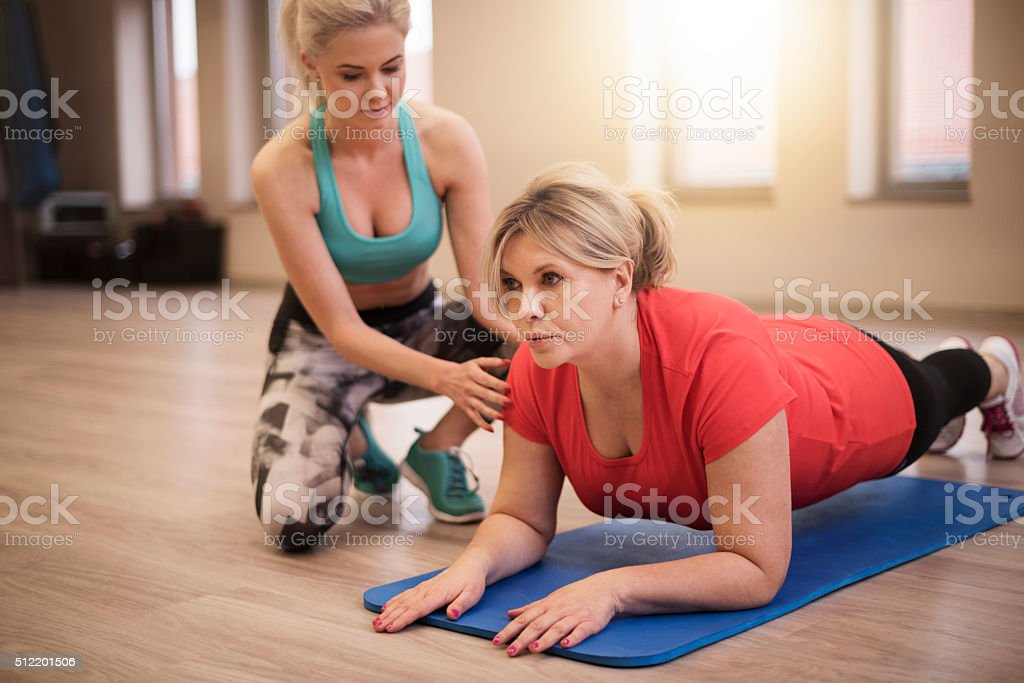Personal training is good idea for achieve good shape stock photo