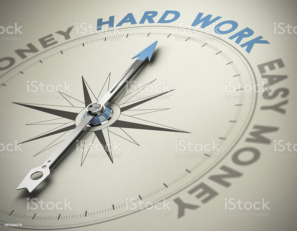 Personal Values - Hard Work Concept stock photo