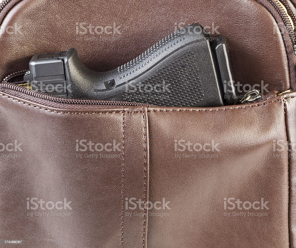 Personal Weapon in Purse stock photo