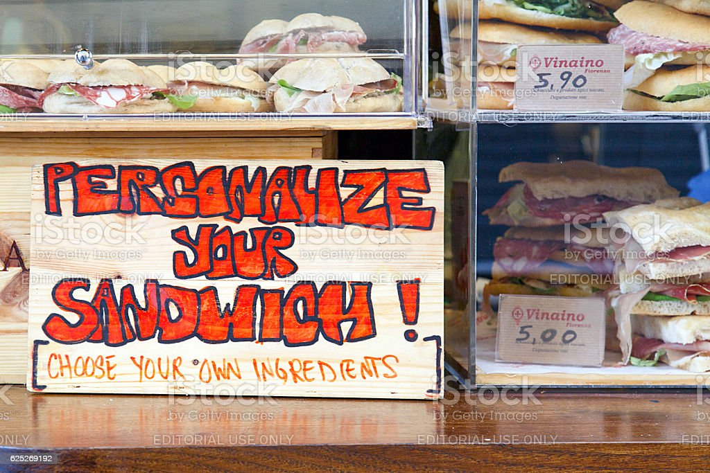 Personalize your Sandwich stock photo