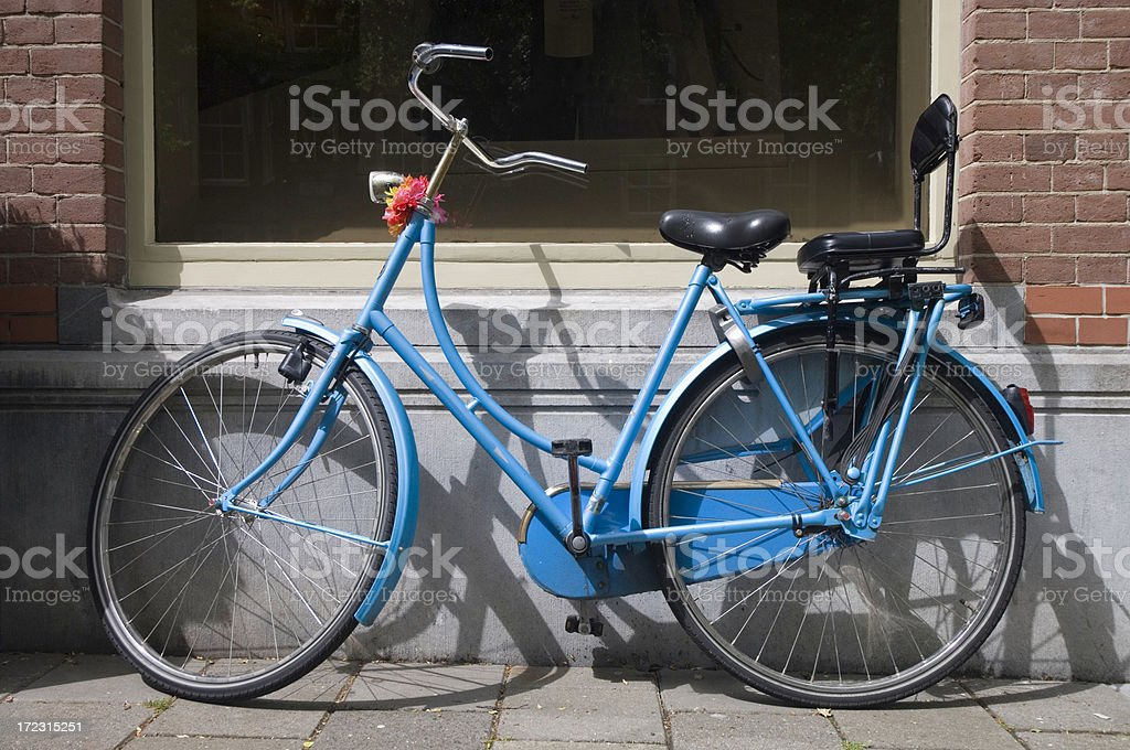 Personalized Dutch Bicycle royalty-free stock photo