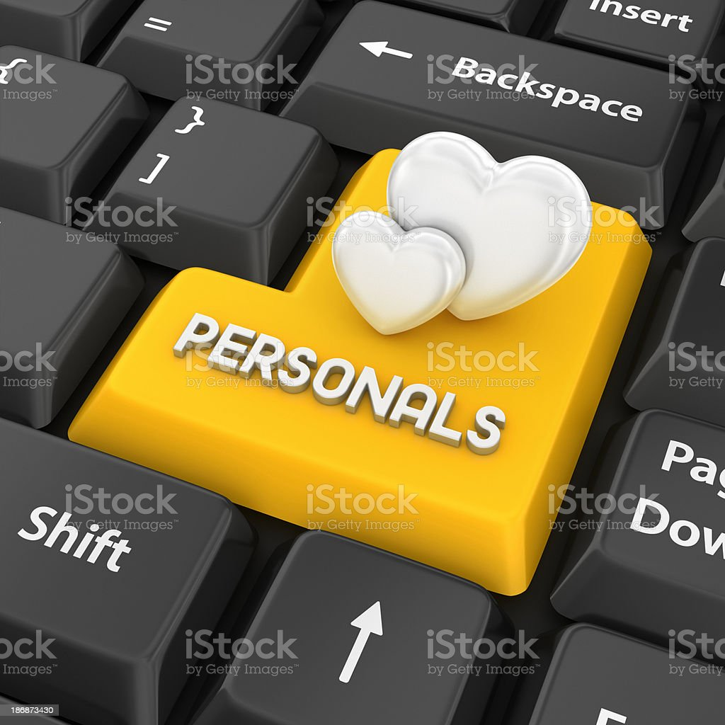 personals enter key stock photo