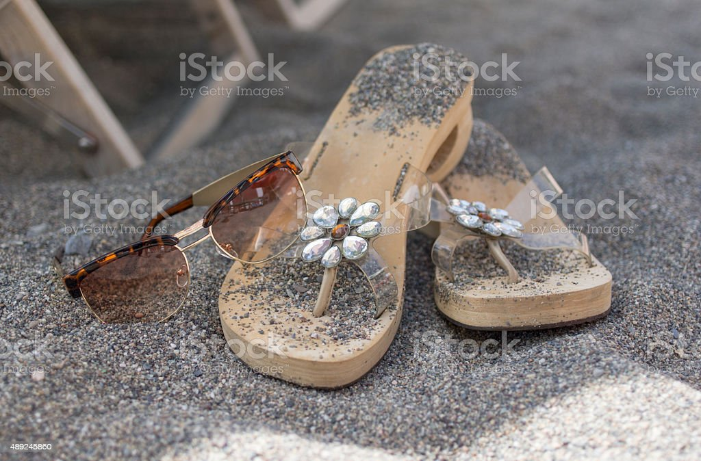 Personals On Sand stock photo