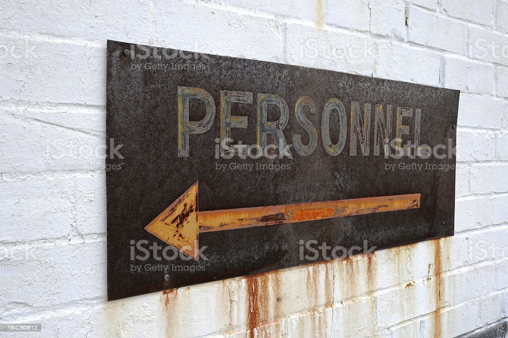 Personnel royalty-free stock photo