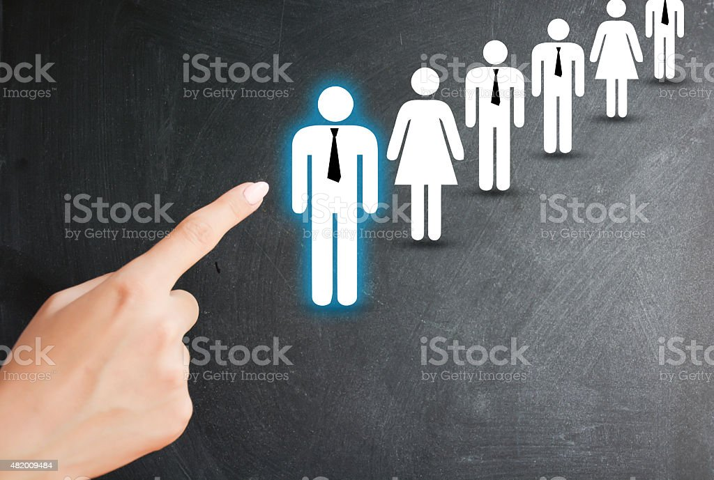 Personnel selection process on human resources department stock photo