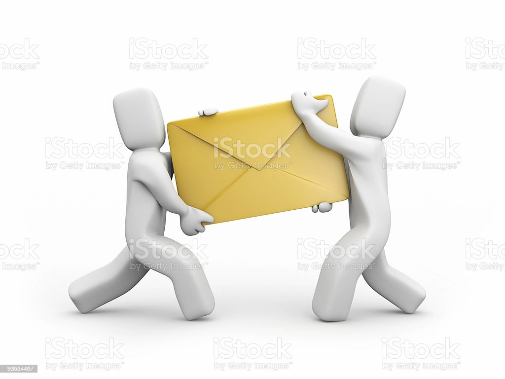 Persons delivery mail royalty-free stock photo