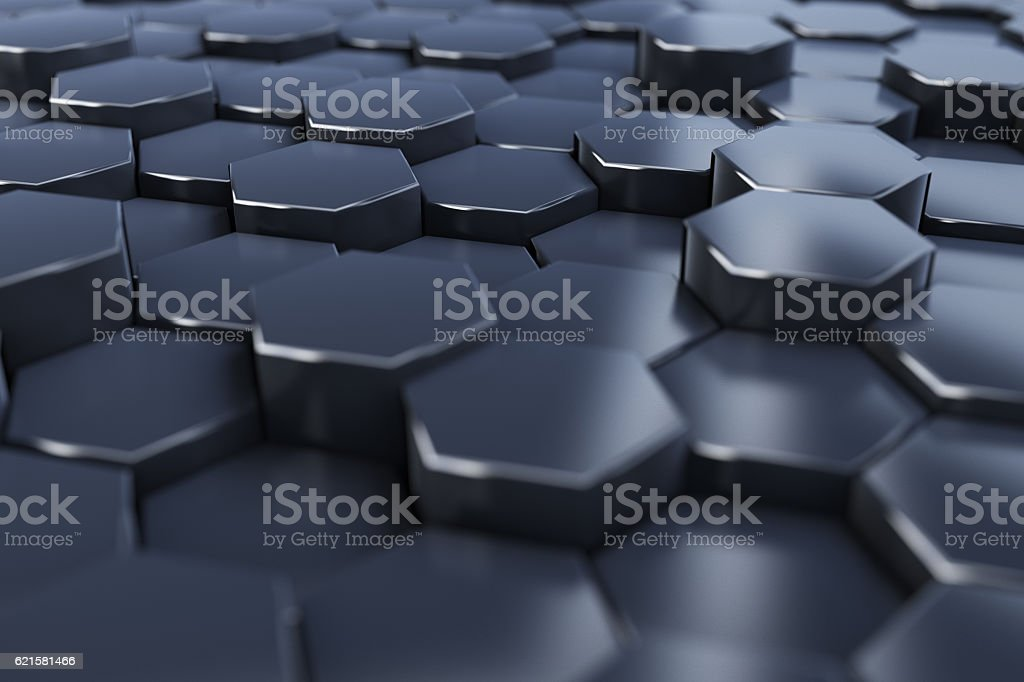 Perspective abstract hex background stock photo