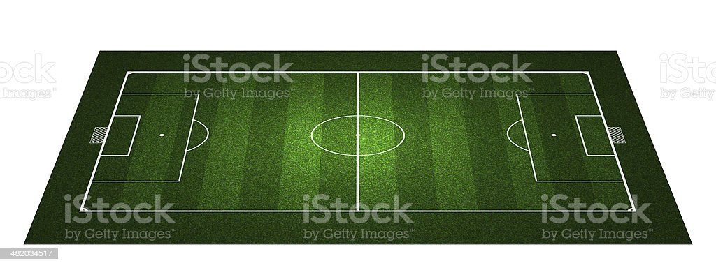 Perspective Football field royalty-free stock photo