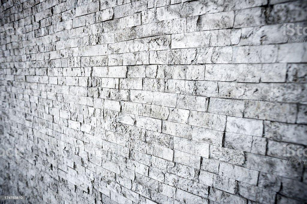 Perspective gray brick wall royalty-free stock photo