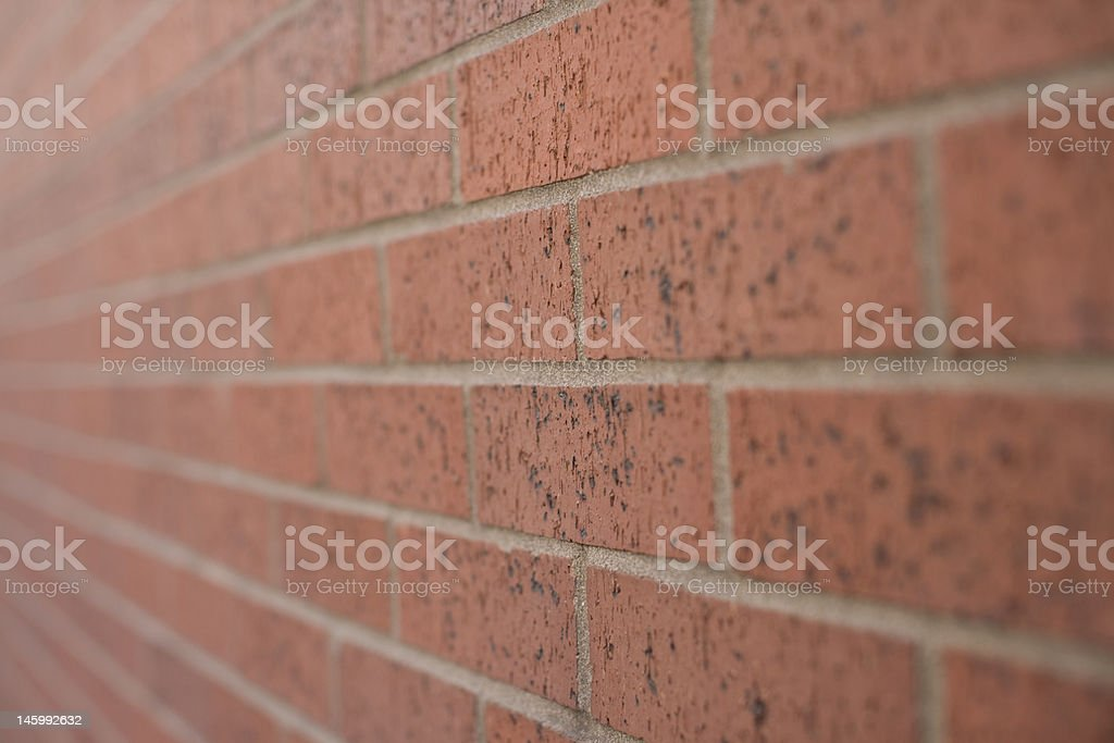 Perspective of a Brick Wall royalty-free stock photo