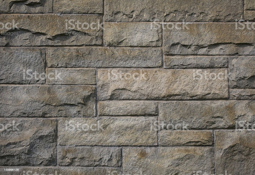 Perspective of a Stone Wall royalty-free stock photo