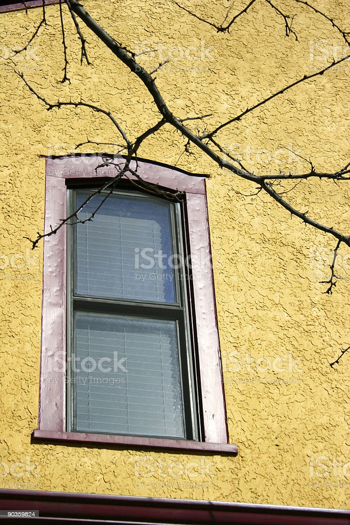 Perspective of a Suburban Window stock photo