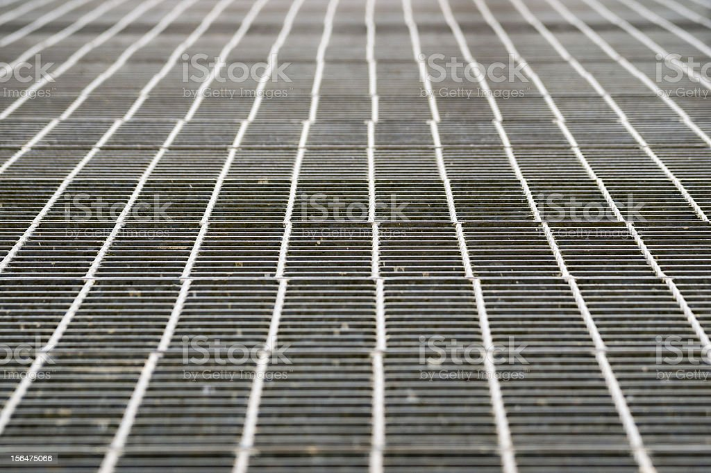 Perspective of metal grill grid royalty-free stock photo
