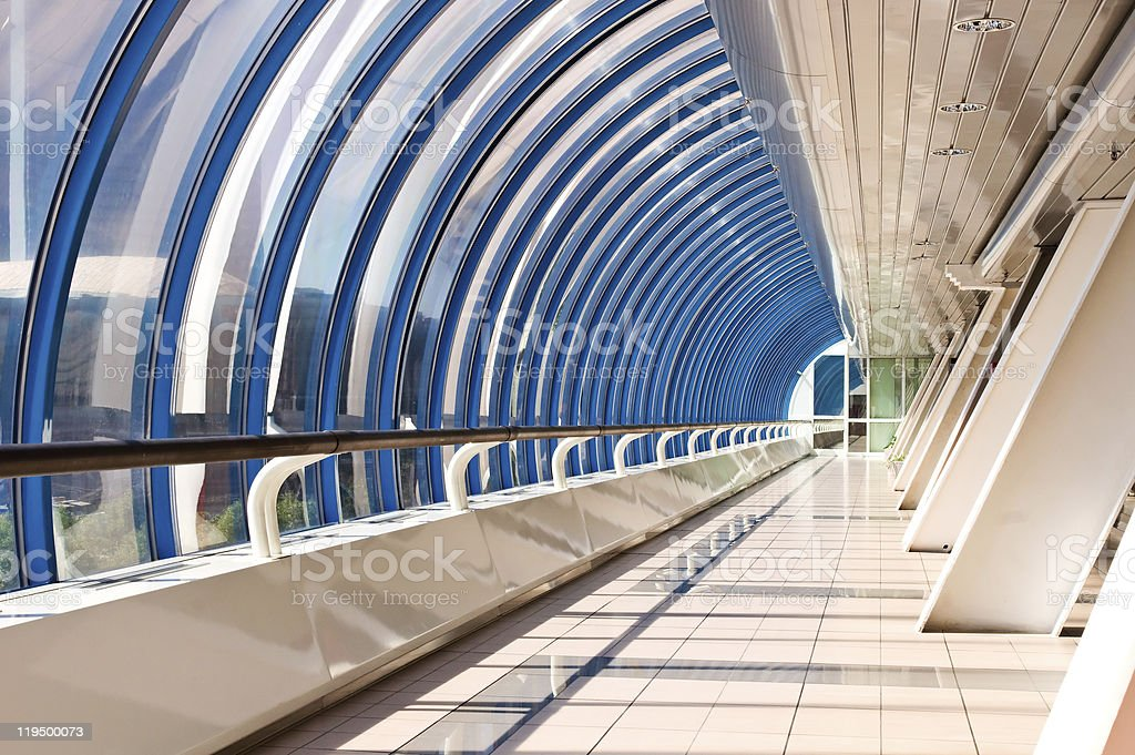 Perspective of the corridor royalty-free stock photo