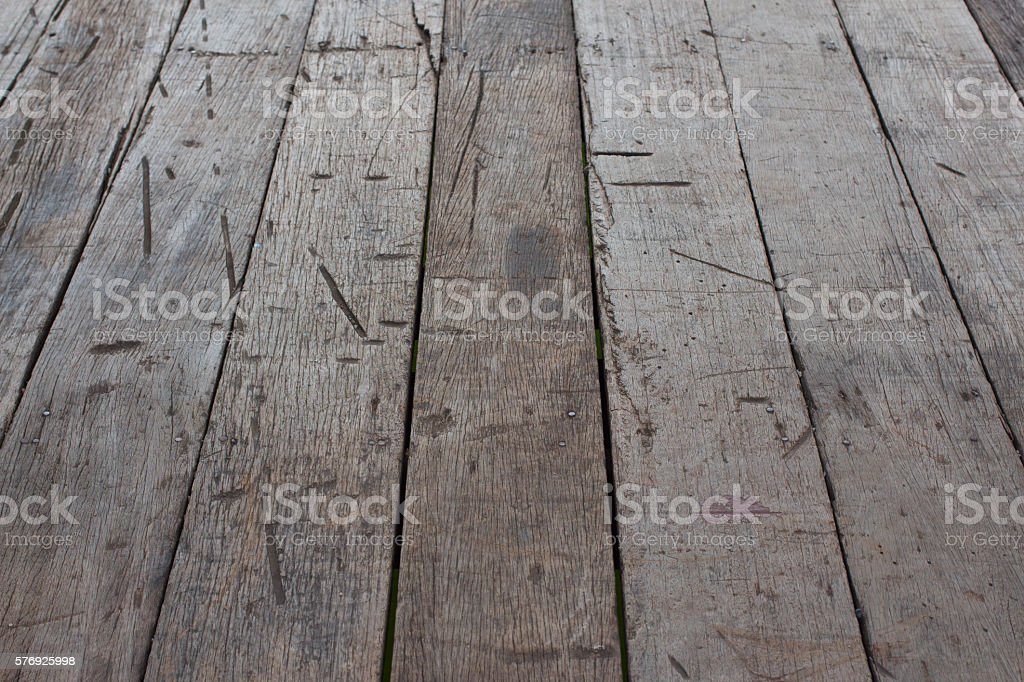 perspective old grunge brown wooden floor with thick desk background Стоковые фото Стоковая фотография