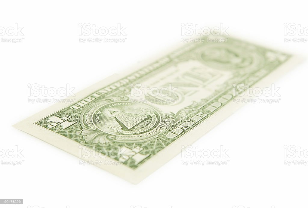 Perspective on the Money royalty-free stock photo