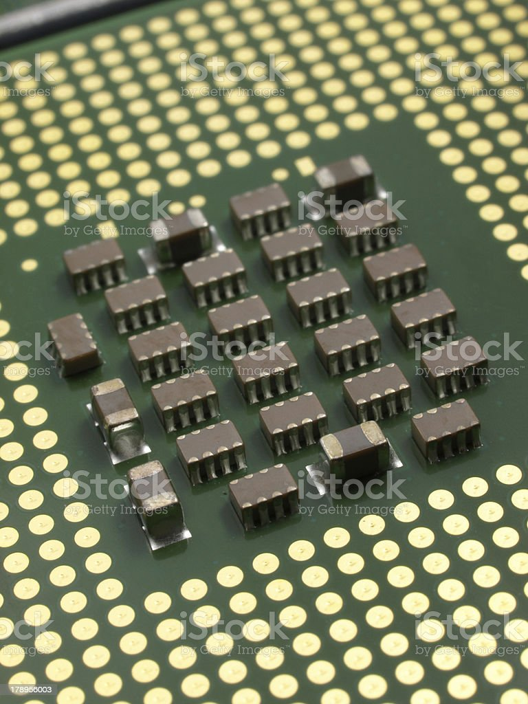 CPU perspective quarter view close up royalty-free stock photo
