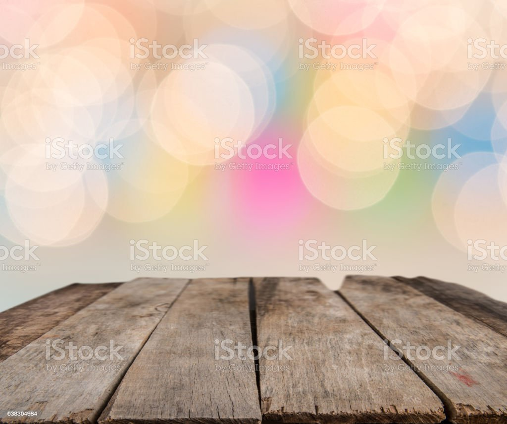 Perspective rustic wood over blur stock photo