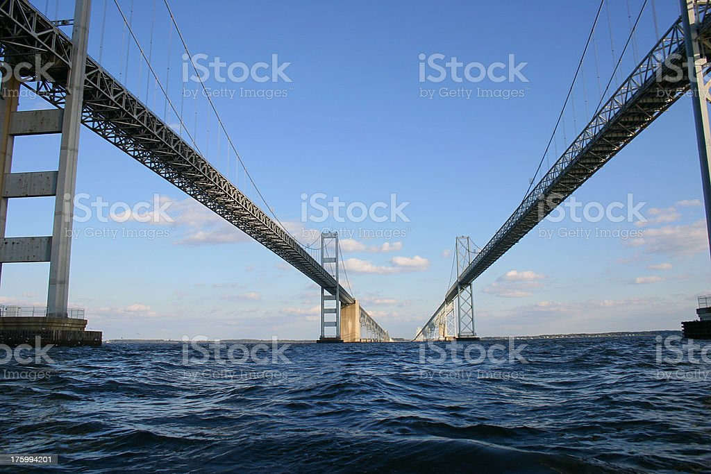 Perspective View of Two Routes royalty-free stock photo
