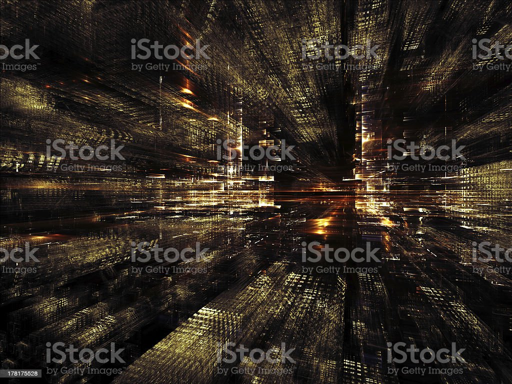 Perspectives of Fractal Metropolis royalty-free stock photo