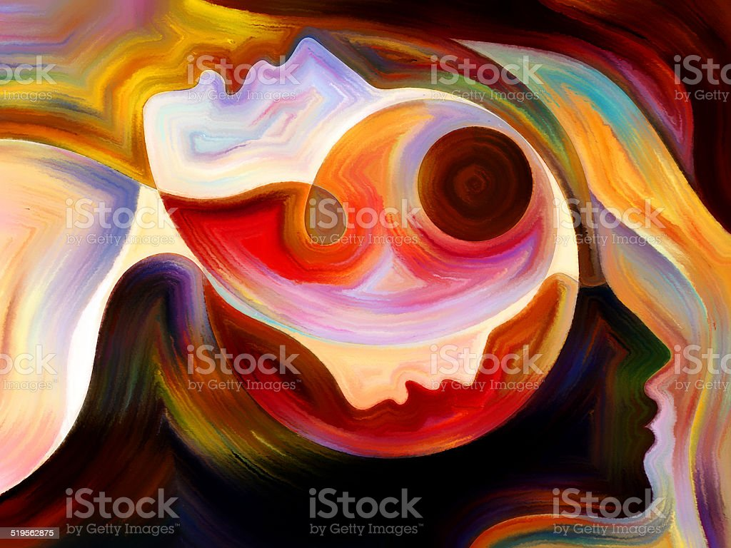 Perspectives of Inner Paint stock photo