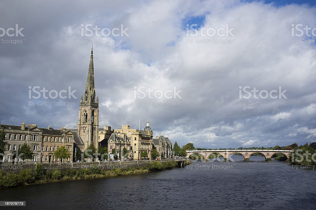 Perth and Tay River stock photo