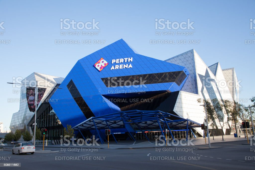 Perth Arena Front Entrance stock photo