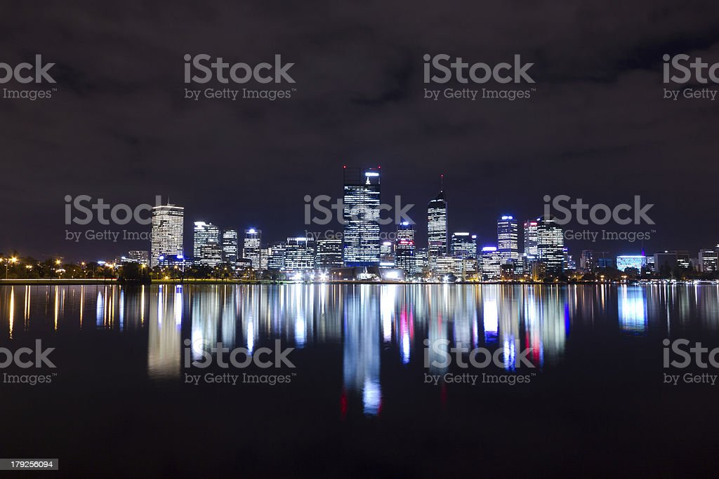 Perth At Night royalty-free stock photo