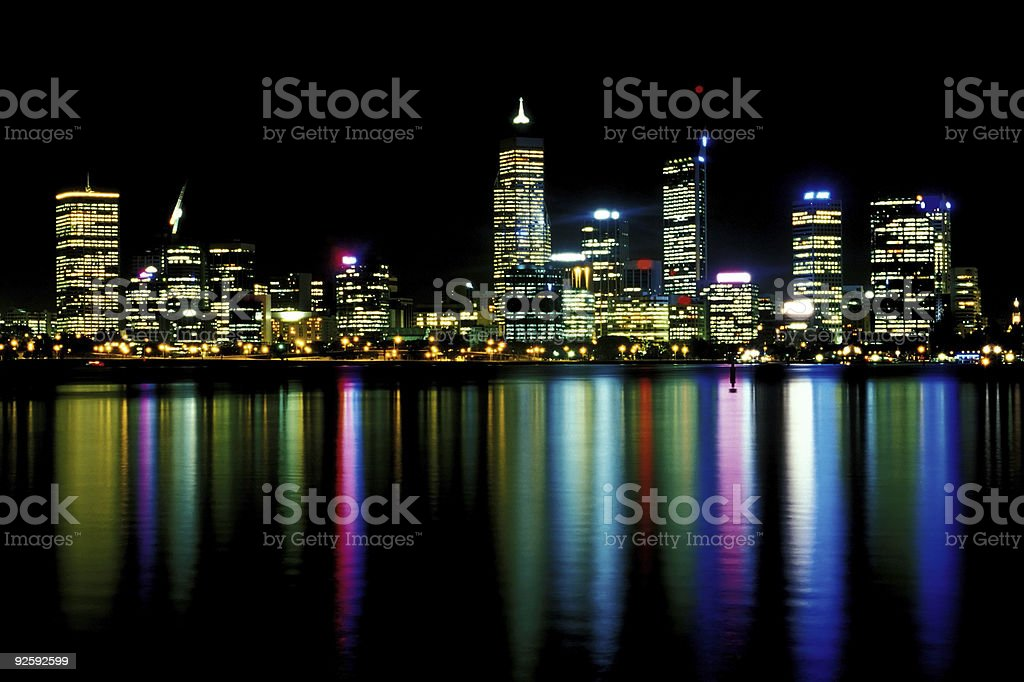 Perth At Night stock photo