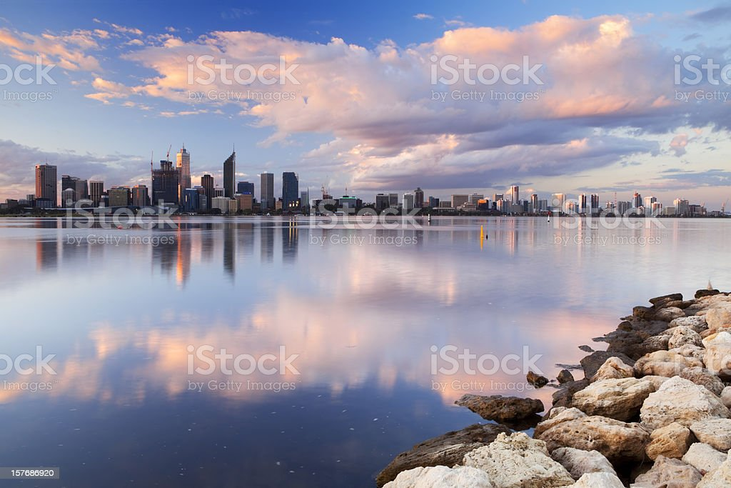 Perth, Australia's central business district royalty-free stock photo