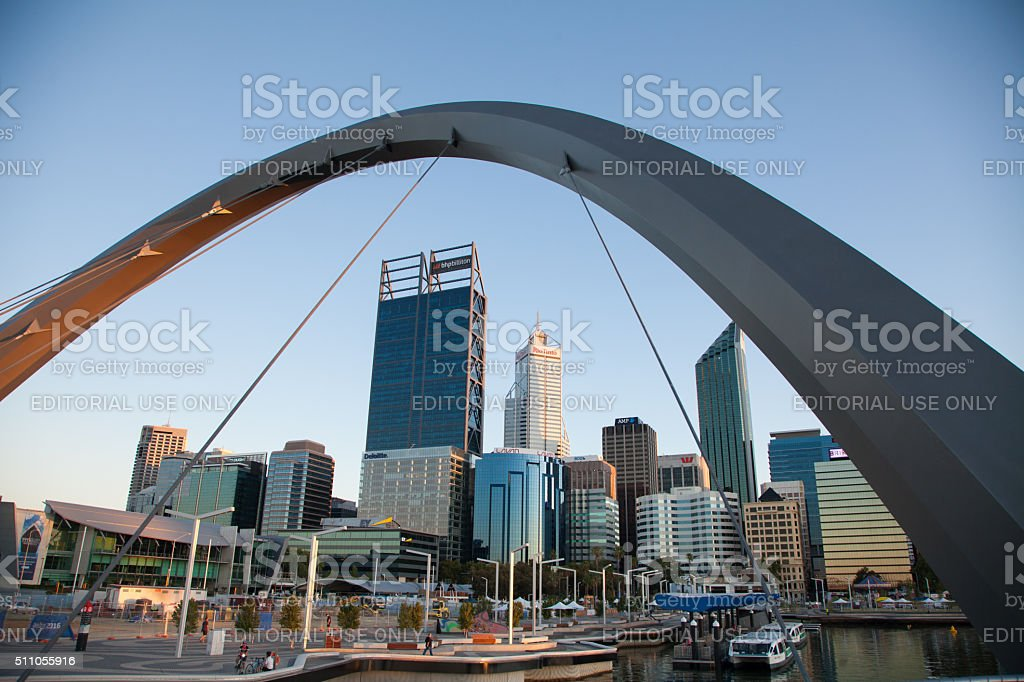 Perth City stock photo