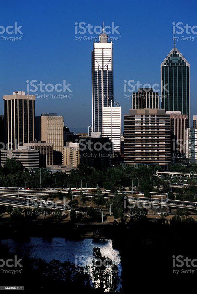 Perth evening view royalty-free stock photo