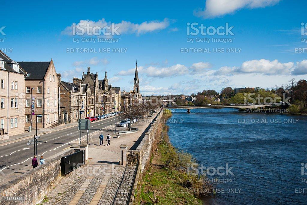 Perth on the River Tay stock photo