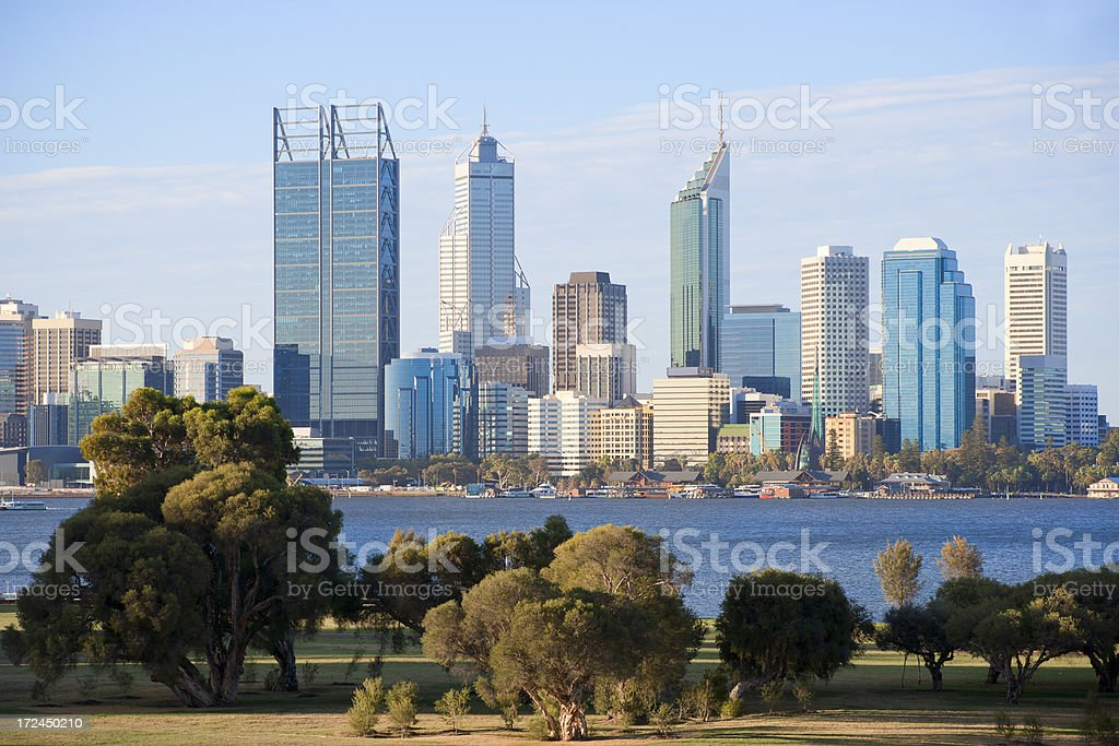 Perth skyline royalty-free stock photo