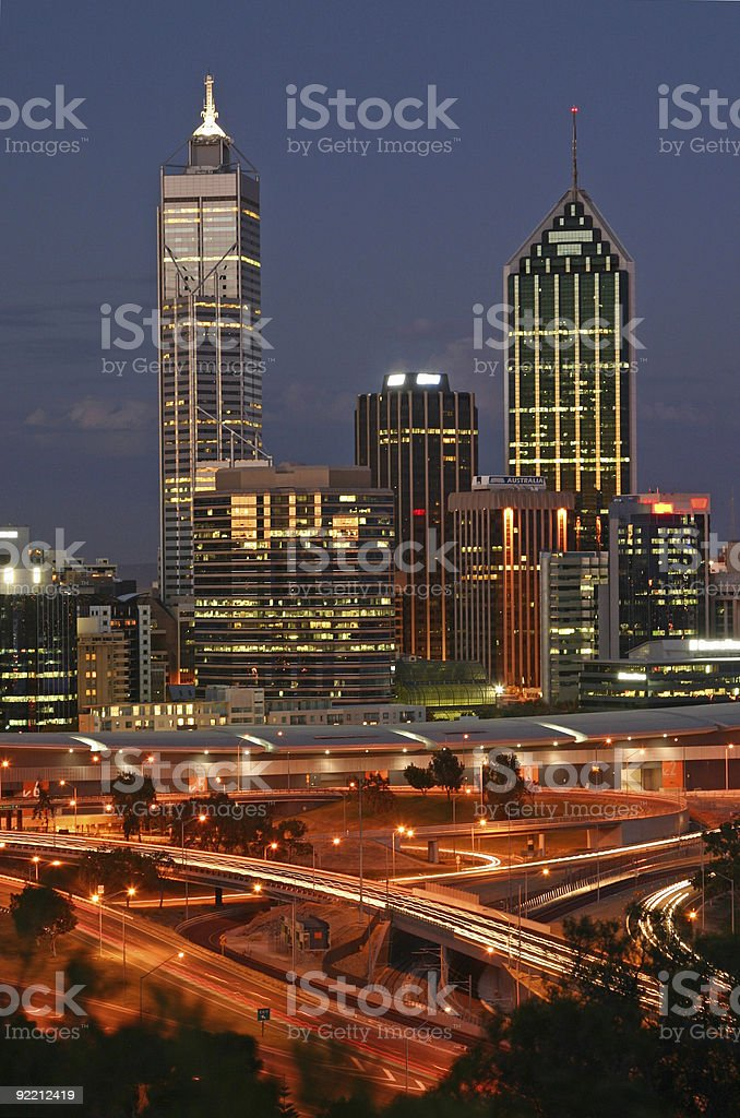 Perth Skyline royalty-free stock photo