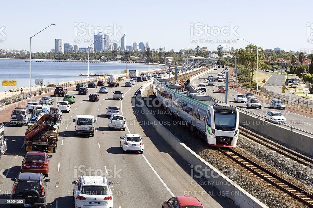 Perth Traffic stock photo