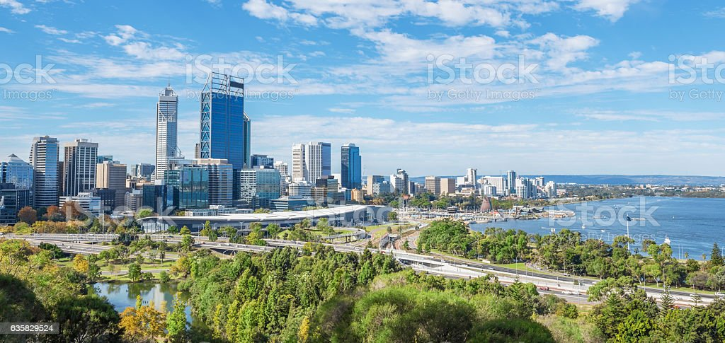 Perth view at the noon stock photo