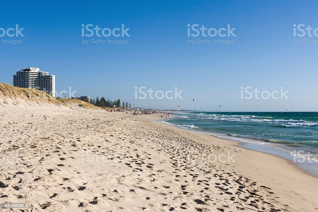 Perth's Scarborough Beach in Western Australia stock photo