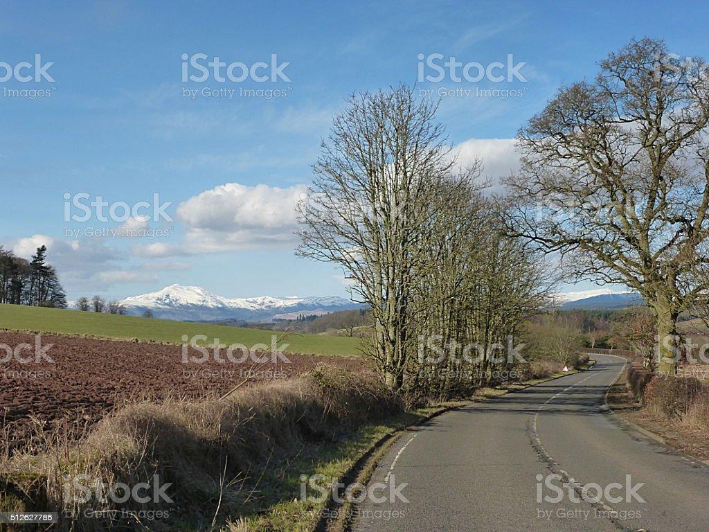 Perthshire Scotland in February stock photo