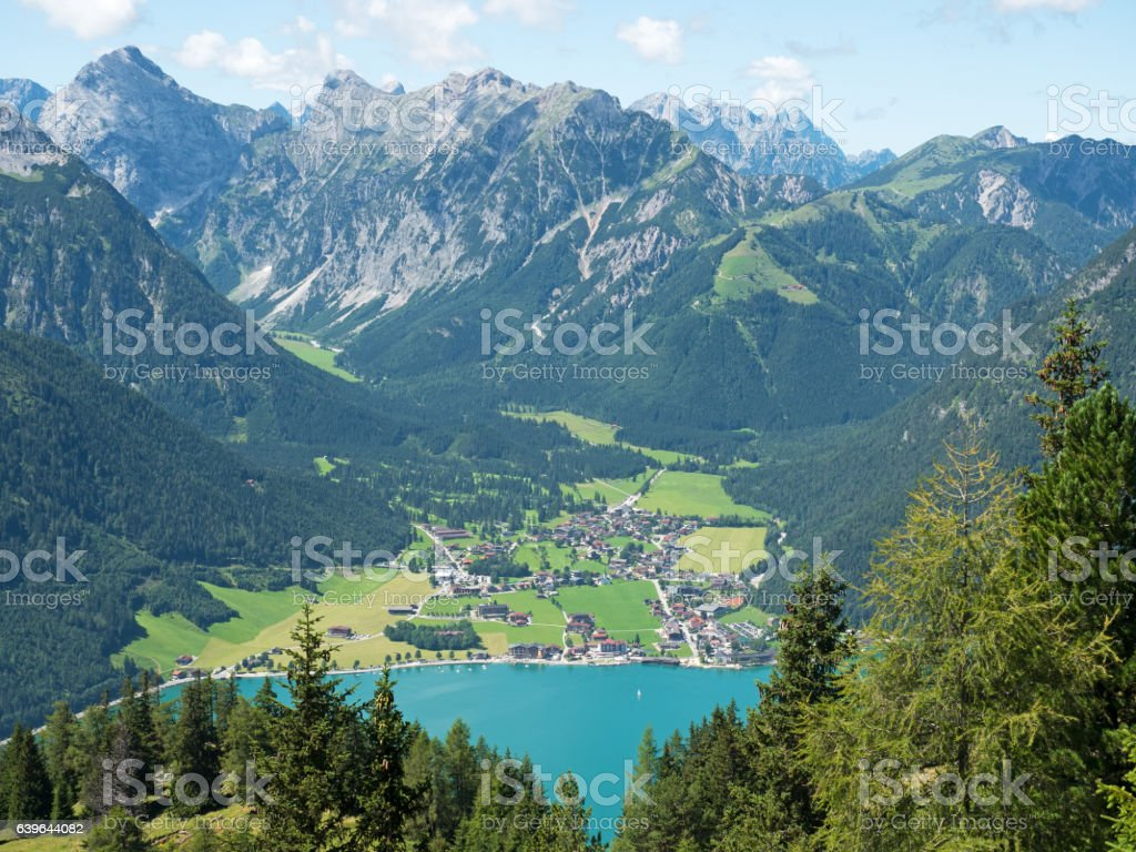 Pertisau at lake Achensee in Tyrol Austria stock photo