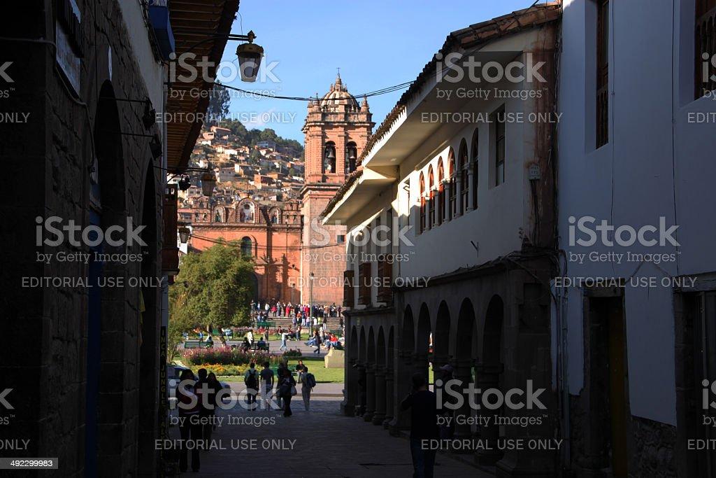 Peru: Cathedral of Santo Domingo in Cuzco stock photo