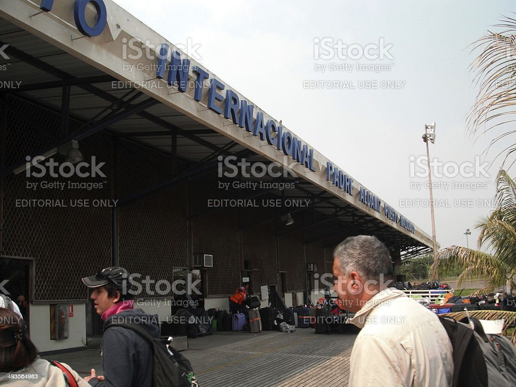 Peru: Puerto Maldonado International Airport stock photo