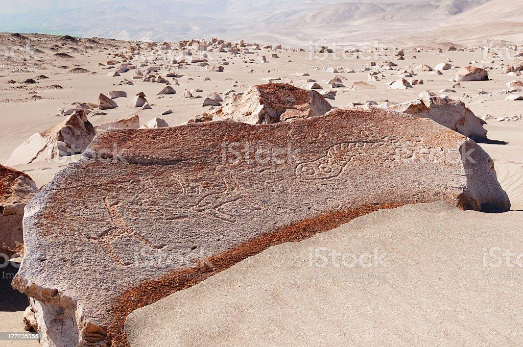 Peru, Toro Muerto Petroglyphs royalty-free stock photo