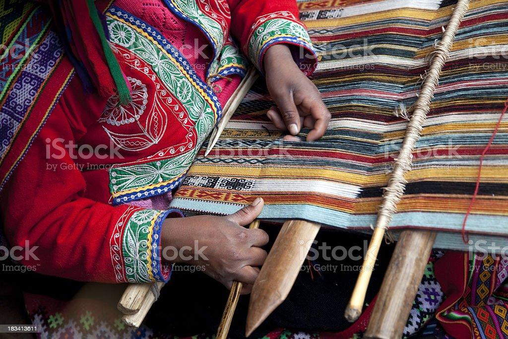 Peru - weaving stock photo