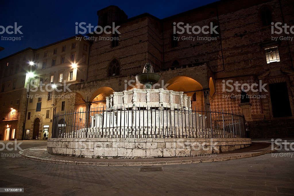 Perugia By Night royalty-free stock photo