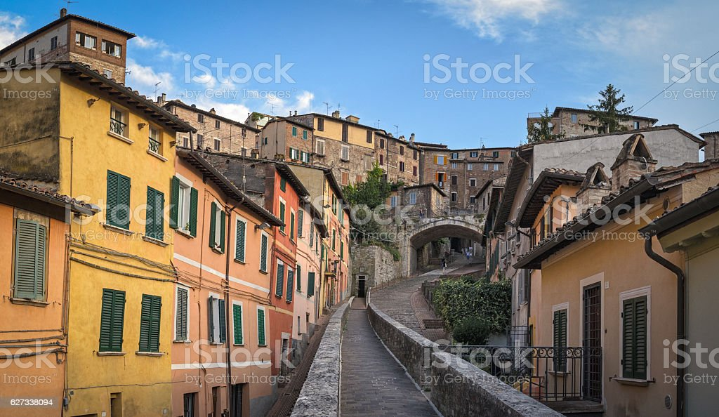 Perugia Via Appia (Acquedotto) stock photo