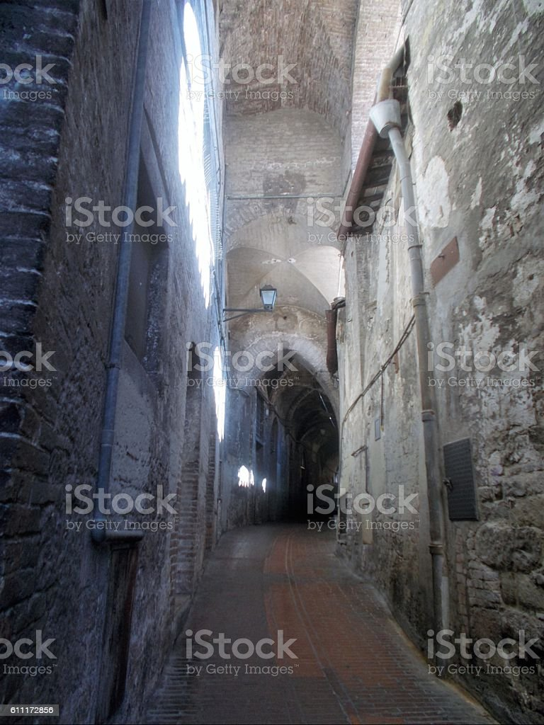 perugia - via delle volte stock photo